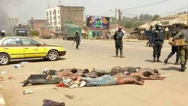 Arrested protesting civilians