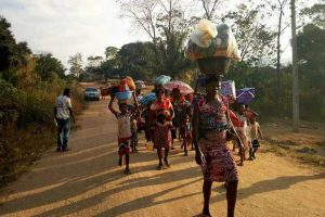 Refugees fleeing Cameroon