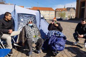 Samir and Azzam on hunger strike at Christiansborg